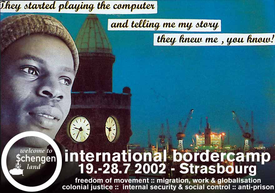 Poster International Border Camp Strassbourg