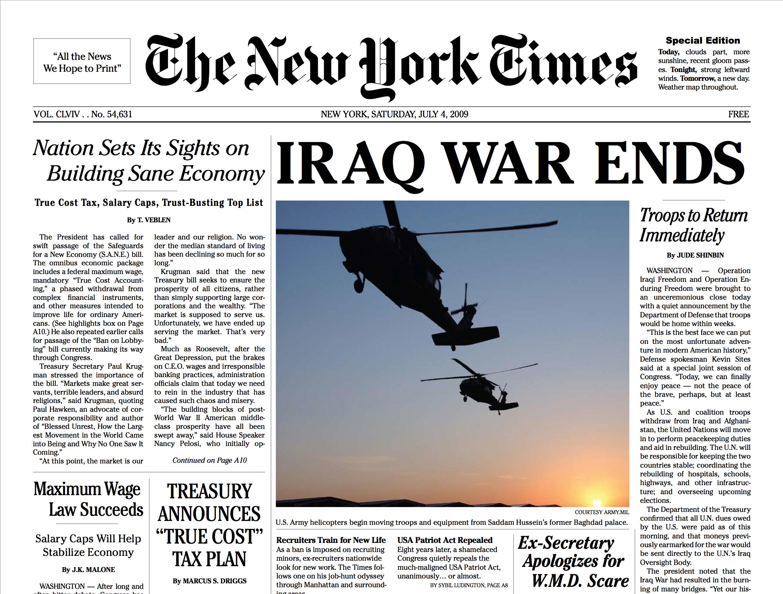 NYT SE Iraq War Ends